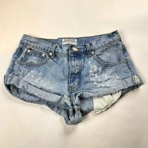 One teaspoon bandits distressed denim shorts 25